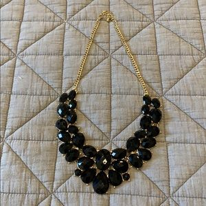 Chunky black statement necklace